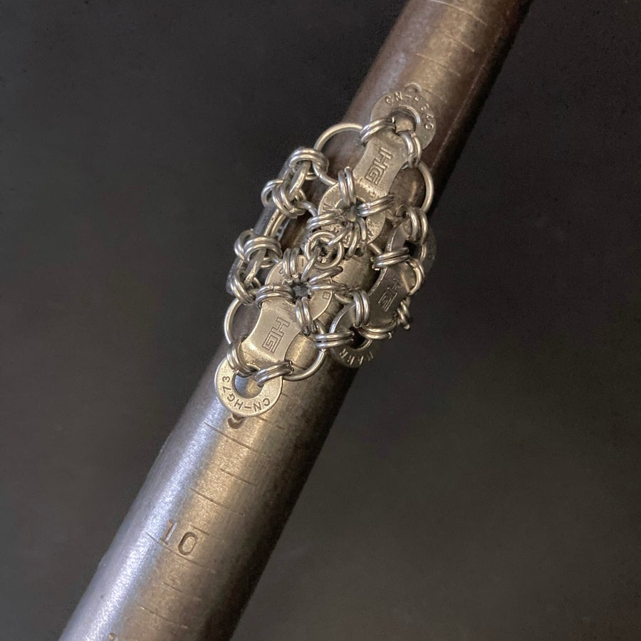 Image of Upcycled Bike Chain Diamond Ring