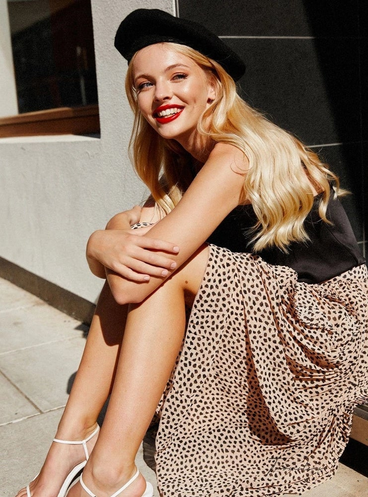 Image of Maia skirt. Leopard print. Two Sisters the Label.