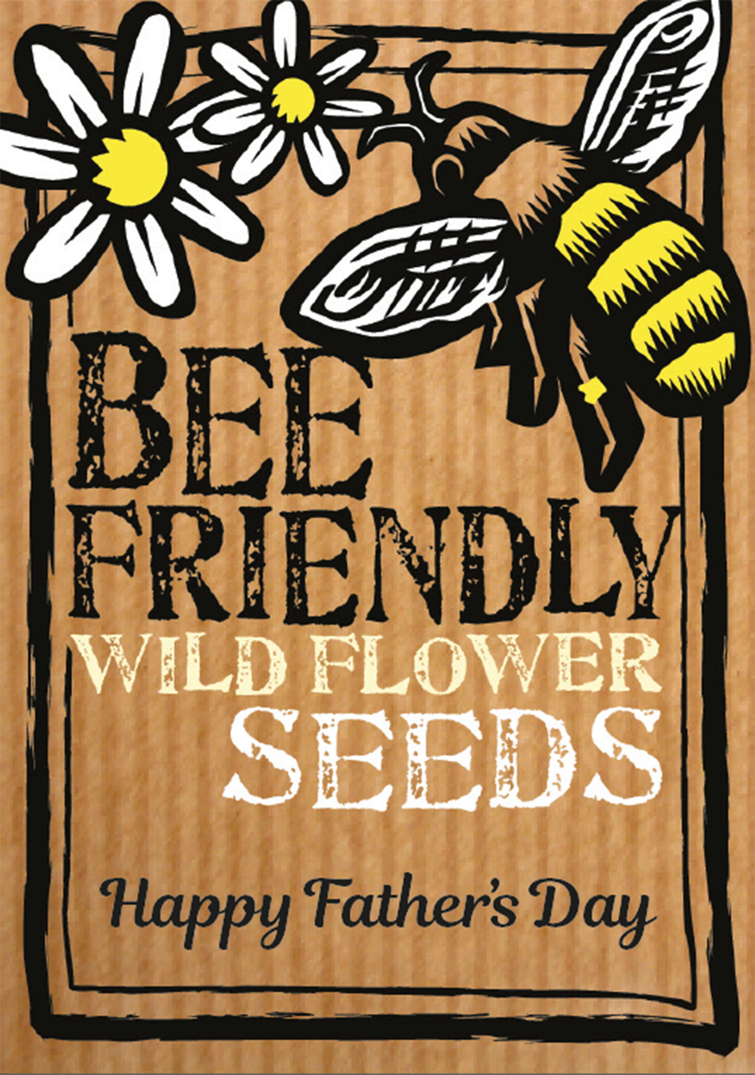 Image of Father's Day Bee-friendly wildflower seeds eco-friendly gift (£3.00 including VAT)