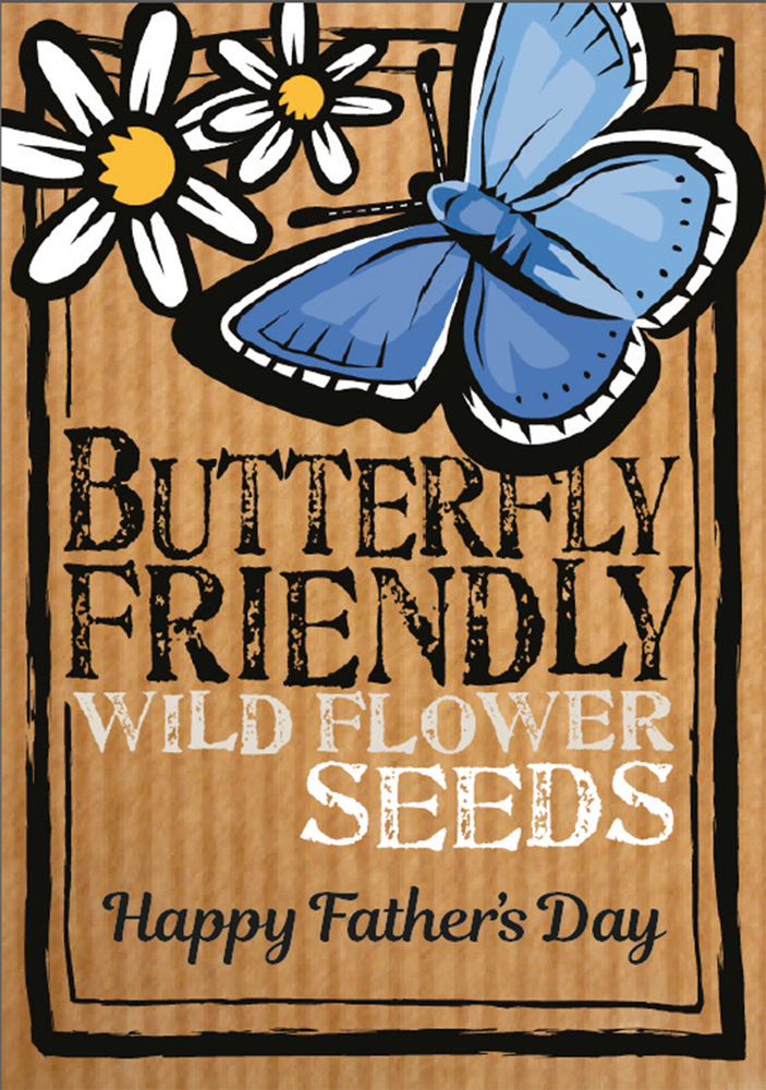 Image of Happy Father's Day Butterfly Friendly Wildflower Seeds eco-friendly gift (£3.00 including VAT)
