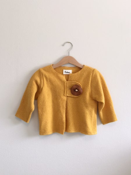 Image of Marigold Wool Cardigan - 2-4T