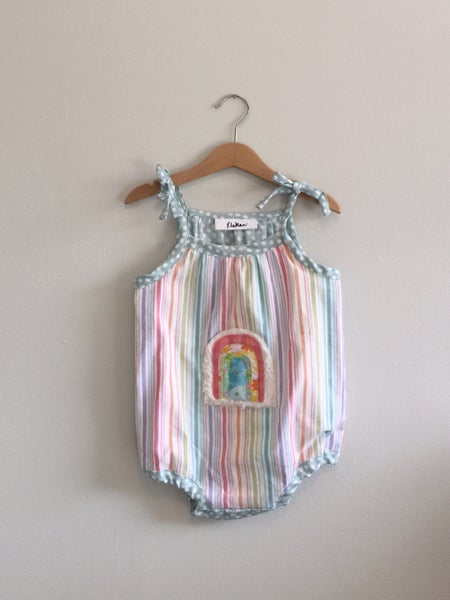 Image of SALE Pastel Rainbow Romper - 3T