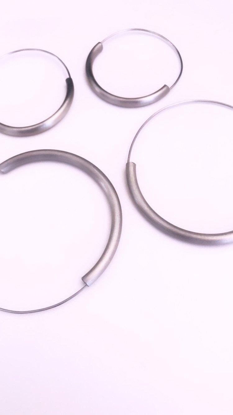 Image of Arracades Reflex acer. Pendientes Reflejo acero