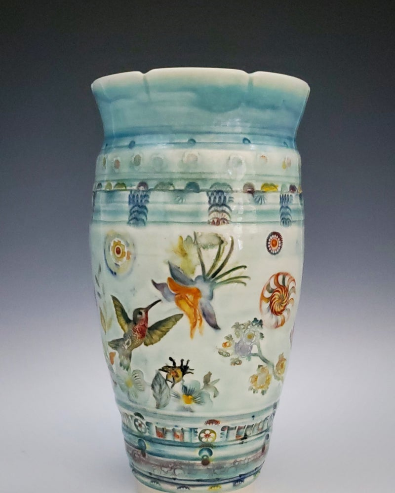 Image of Red MacCaw Garden Vase