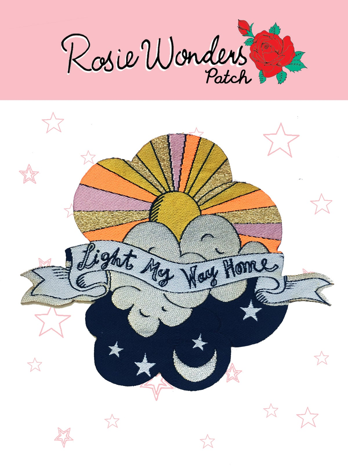 Light My Way Home Iron-on Patch