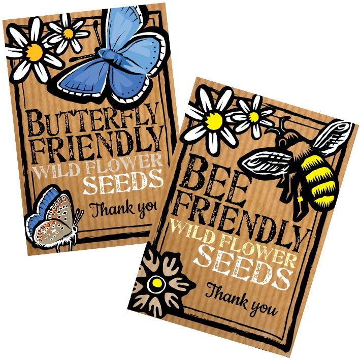 Image of Thank-you duo pack, bee and butterfly  (£5.25 including VAT)