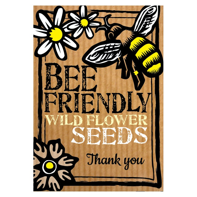 Image of Bee-Friendly 'Thank You' Wild Flower Seeds (£3.00 including VAT)