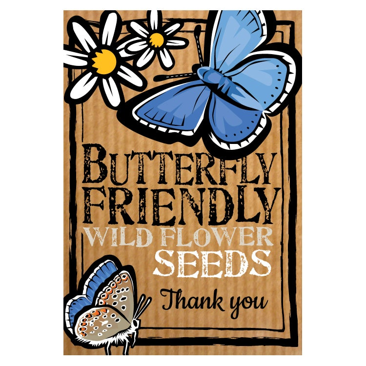 Image of Butterfly Friendly 'Thank You' Flower Seeds (£3.00 including VAT)