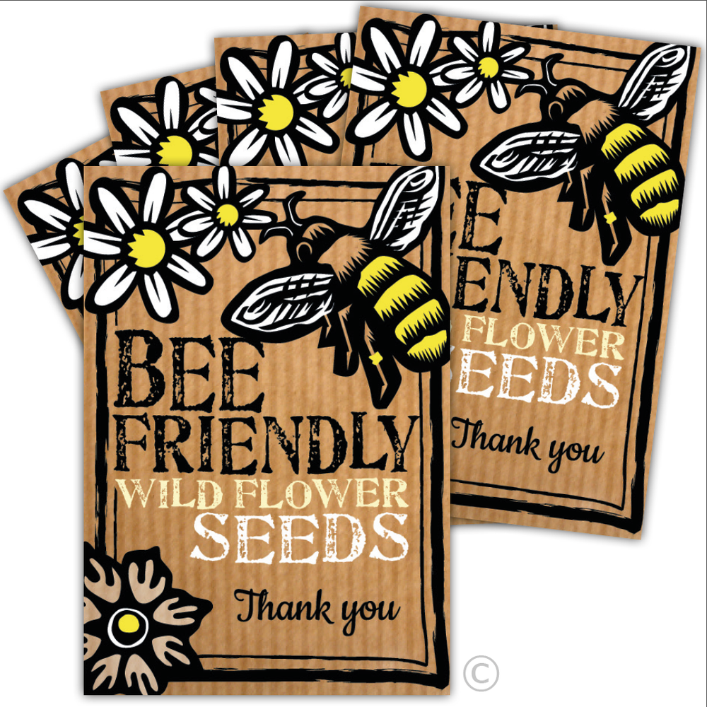 Image of Bumper Five Pack of Bee Friendly Thank You Seeds (£12.96 including VAT)