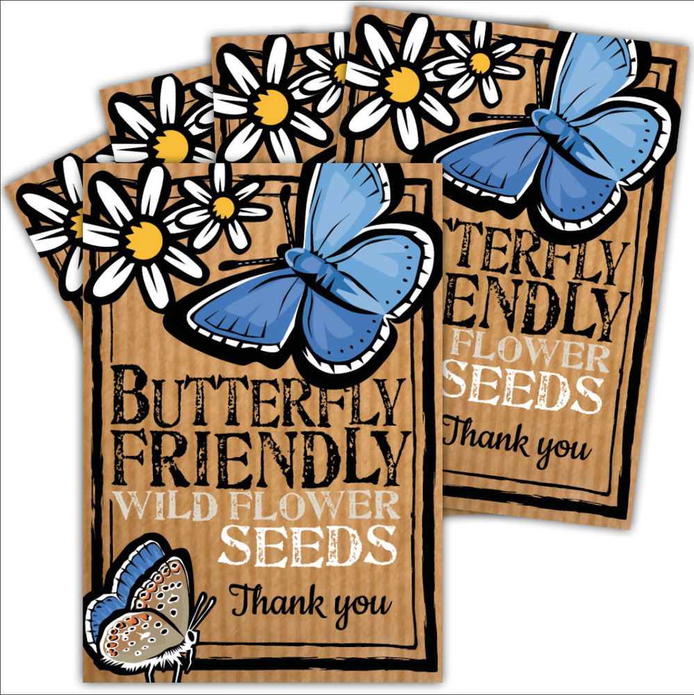 Image of Bumper 5 Pack of Butterfly Friendly Thank You Seeds (£12.96 including VAT)