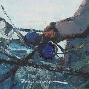 Image of Mid Century Swedish Painting, 'Fishermen,' ROALD HANSEN.