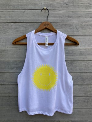 Image of Smiley Face Cropped Tank