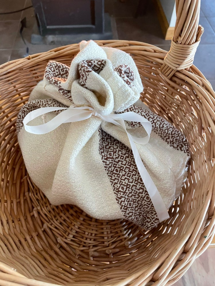 Image of Handwoven 100% Cotton Bread Bag (pale yellow)