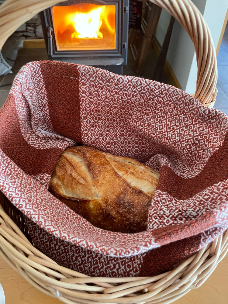 Image of Handwoven 100% Cotton Bread Bag (Amber)