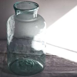 Ancien grand bocal en verre 8 litres 36 cm