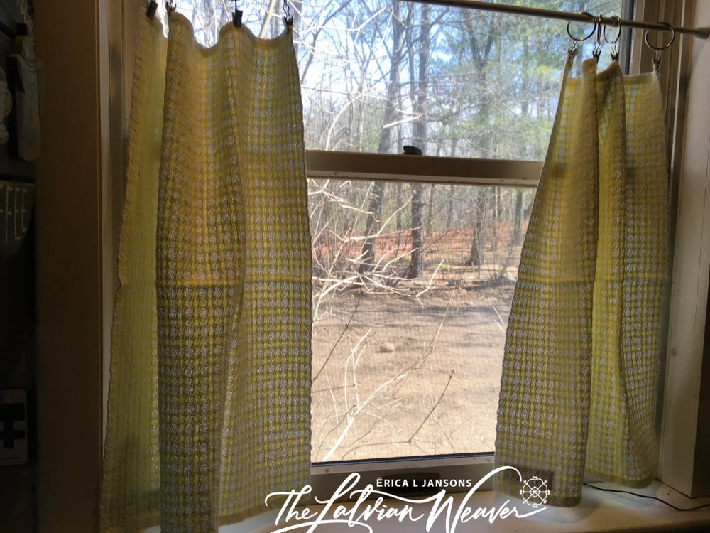 Image of Handwoven 100% Cotton Towel Curtains