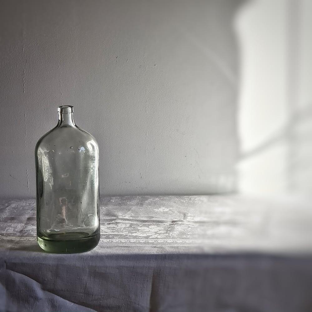 Ancienne petite bouteille à eau de seltz 23 cm