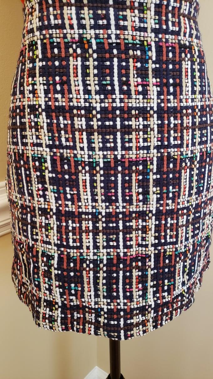 Image of Basket Weave Pencil Skirt
