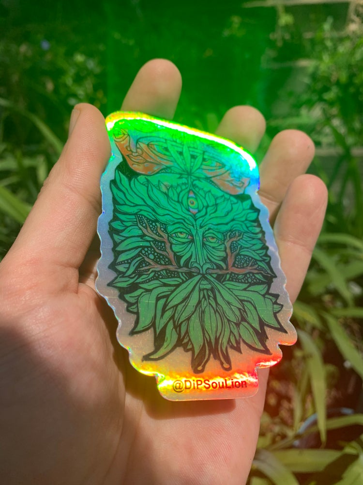 Image of Green Your Mind holographic sticker