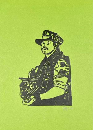 """Image of """"I ain't got time to bleed"""" 8"""" x 11"""" Lino print"""