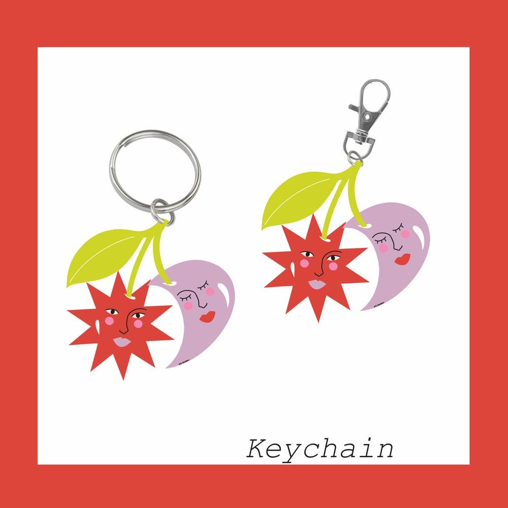 Image of Cosmic Cherry Pie keychain