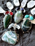 XL MOSS AGATE NECKLACE