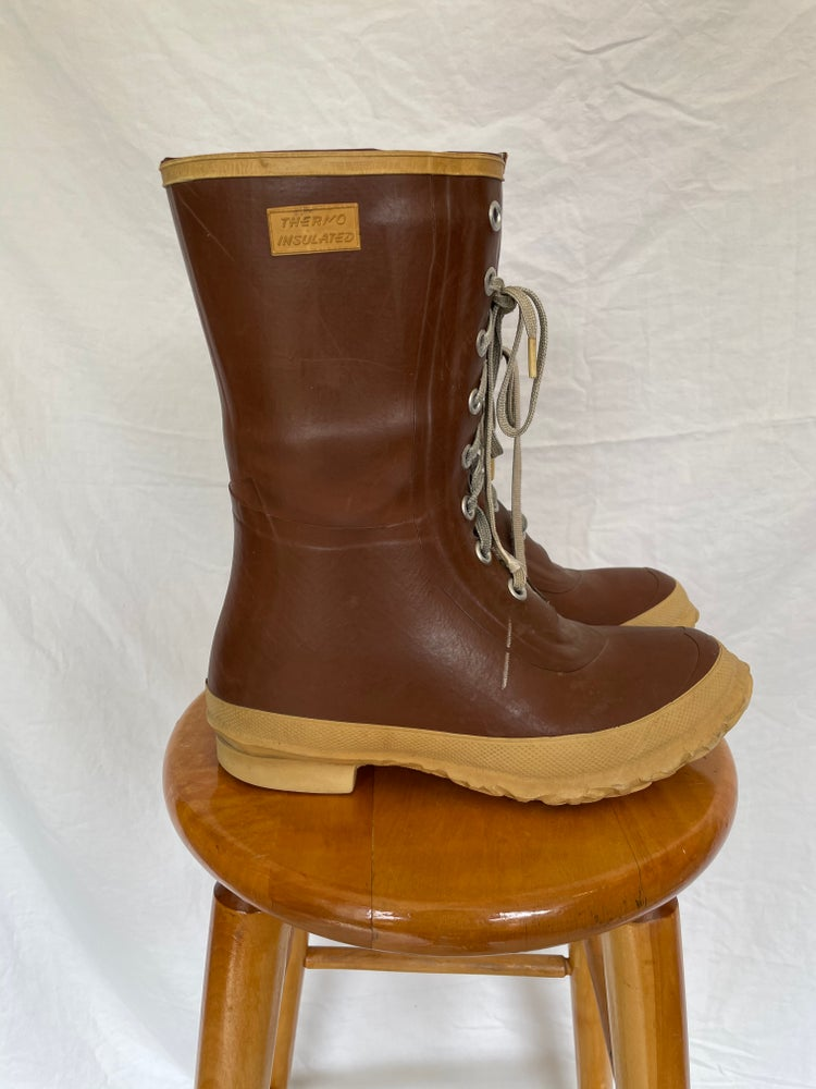 Image of Lace Up Rubber Boots