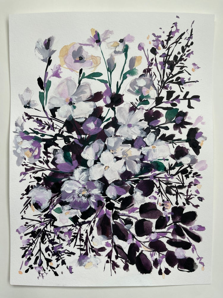 Image of Wild Flower Bouquet - Original Watercolor Painting