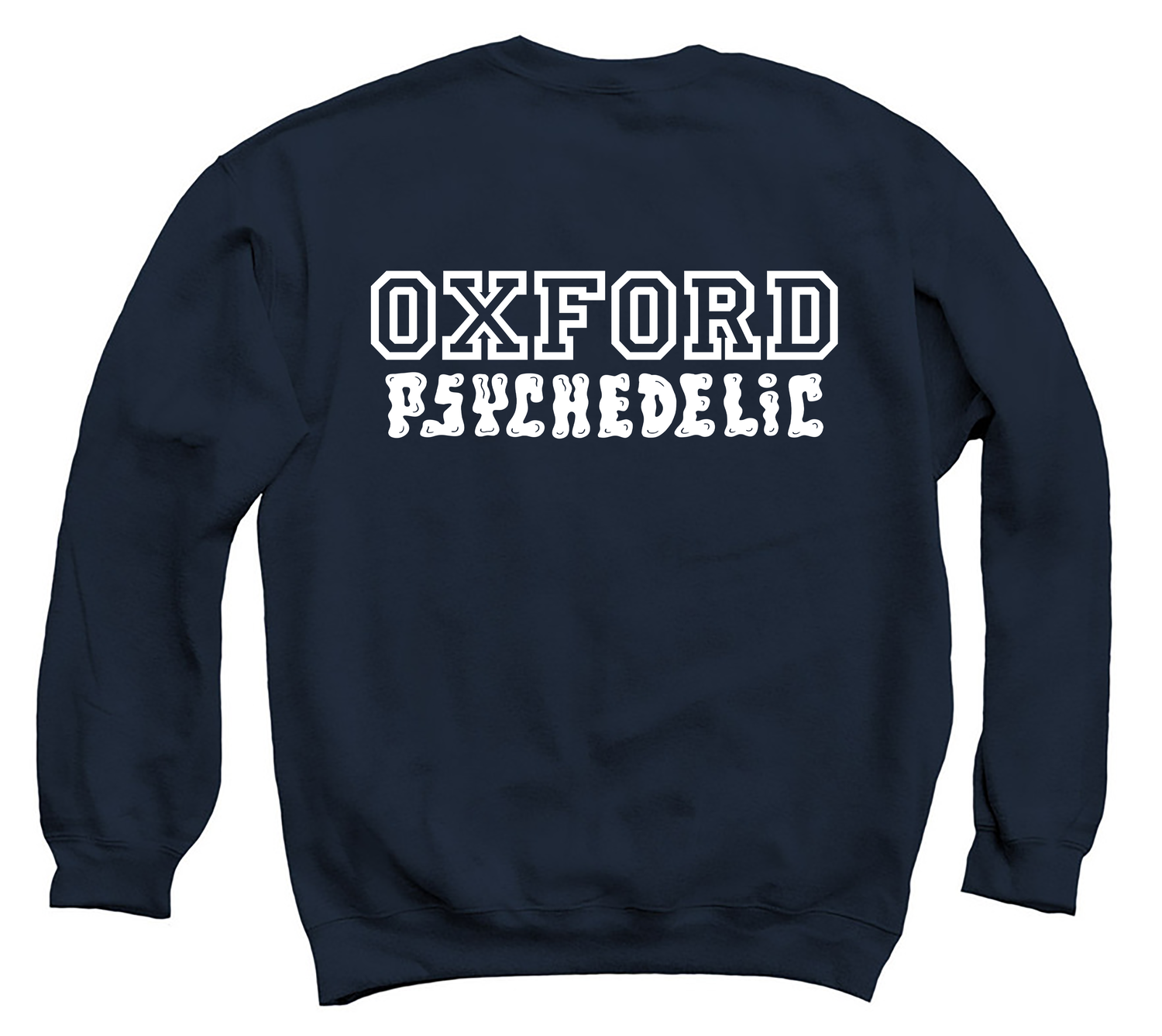 Image of Pre-order varsity unisex classic sweatshirt navy (certified organic cotton by Earth Positive)