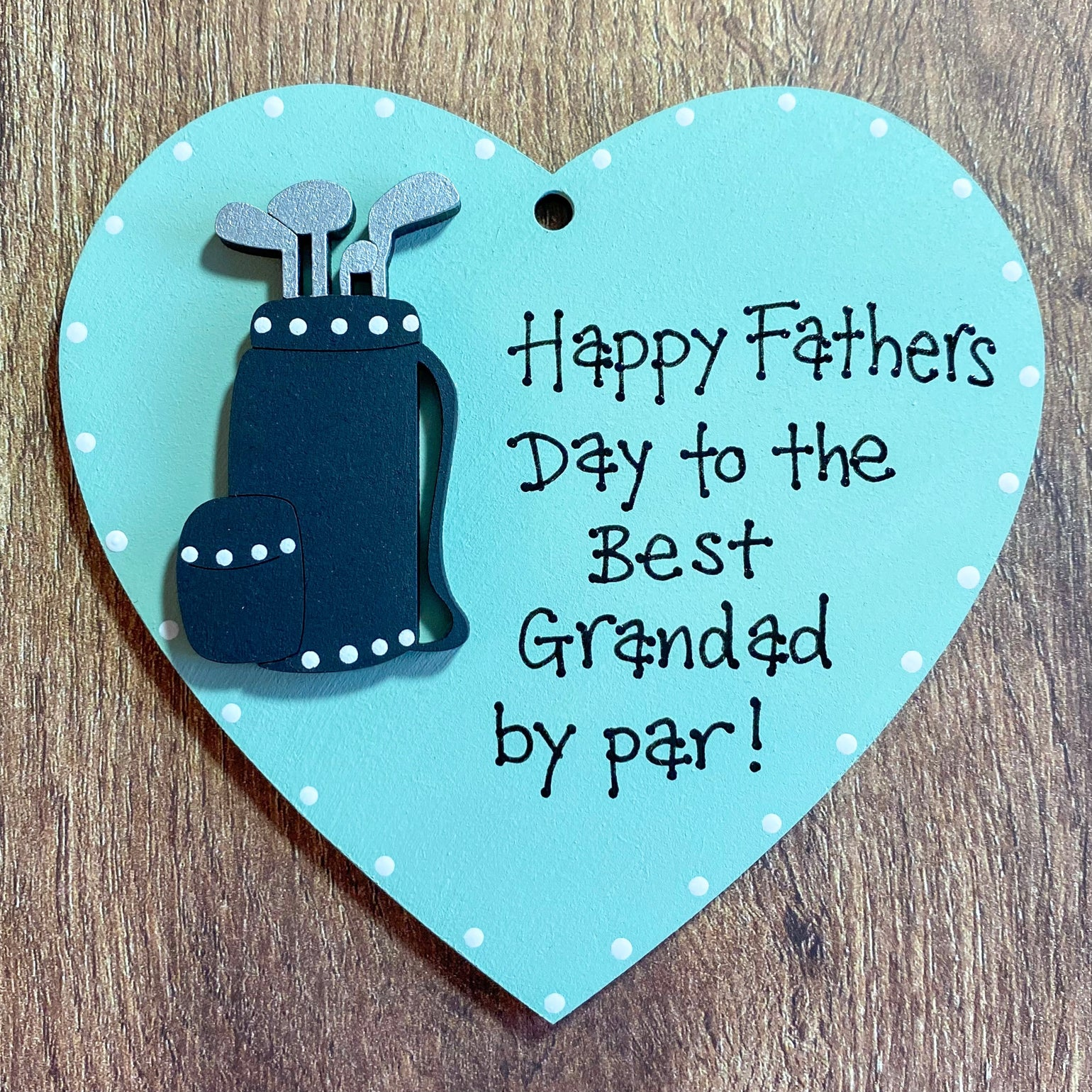 Image of Fathers Day Heart (Golf)