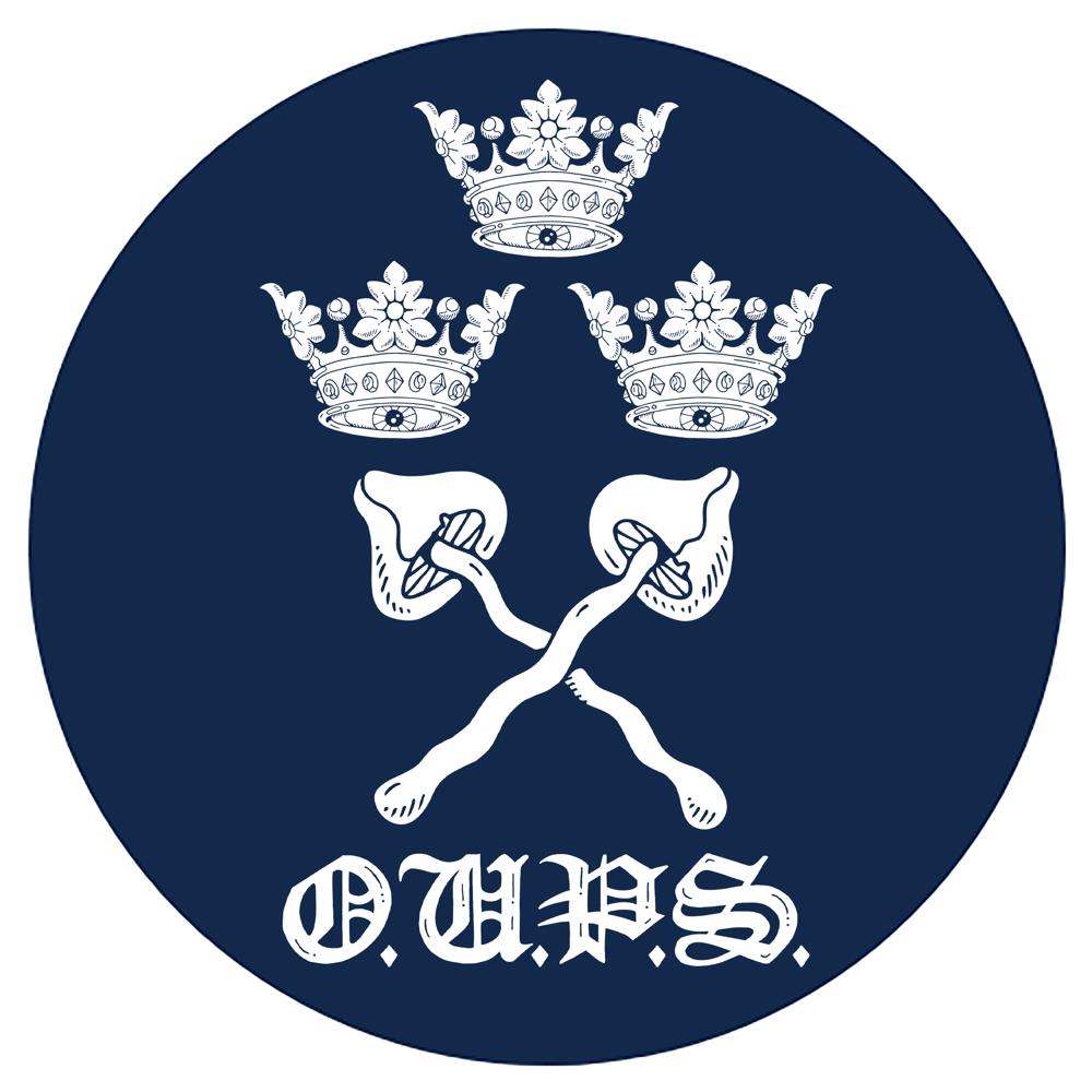 Image of OPS varsity circular 6.9cm neon stickers