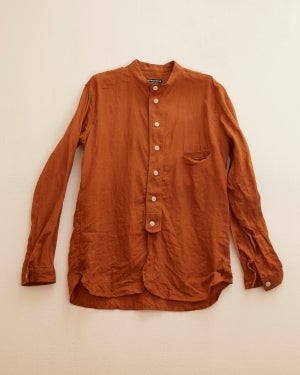 Image of Bed shirt - Terracota Linen