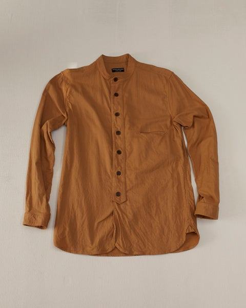 Image of Bed Shirt - Tan Cotton