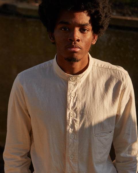 Image of Bed Shirt - Ecru cotton