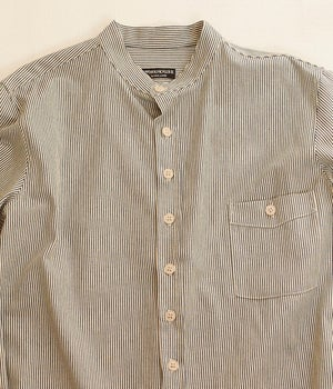Image of Bed Shirt - Blue&White Stripe cotton