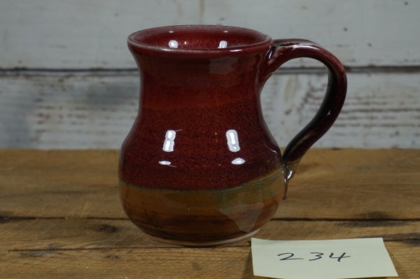 Image of Red Potbelly Mug