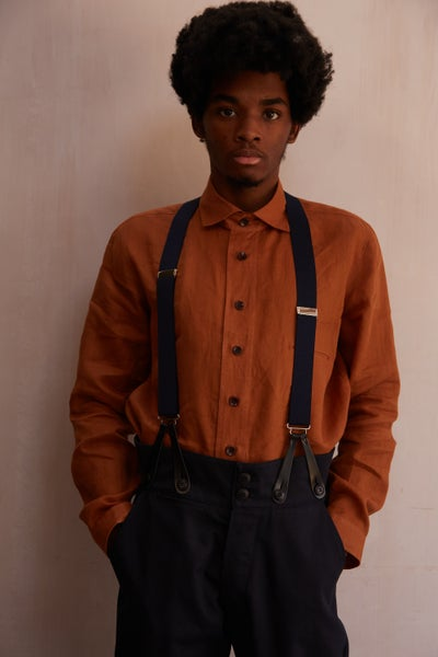 Image of English Painter Shirt - Terracotta Linen