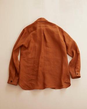 Image of English Painter Shirt - Terracotta Linen