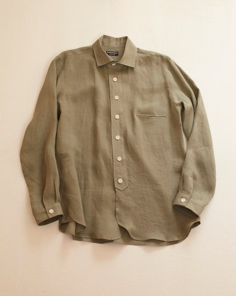 Image of English Painter Shirt - Sage Olive linen