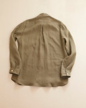 Image of English Painter Shirt - Sage Olive linen