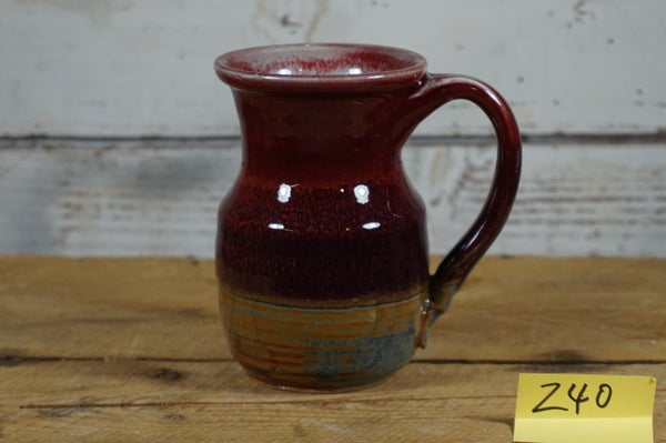 Image of Red Potbelly Mug #2