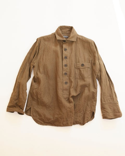 Image of Cuckoo Shirt - Olive Khaki washed linen