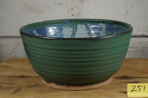 Image of Green & Blue Celedon Serving Bowl