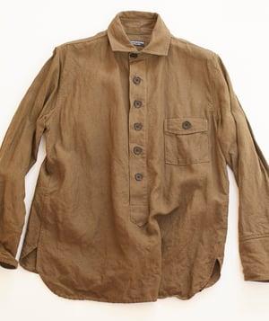 Image of Cuckoo Shirt - Olive Khaki washed linen