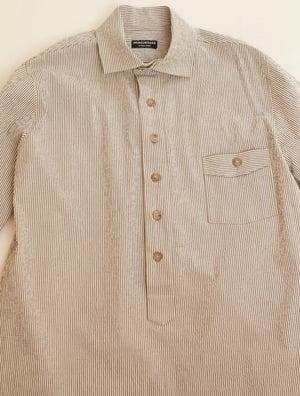 Image of Cuckoo Shirt - Light Grey & Ecru stripe £190.00