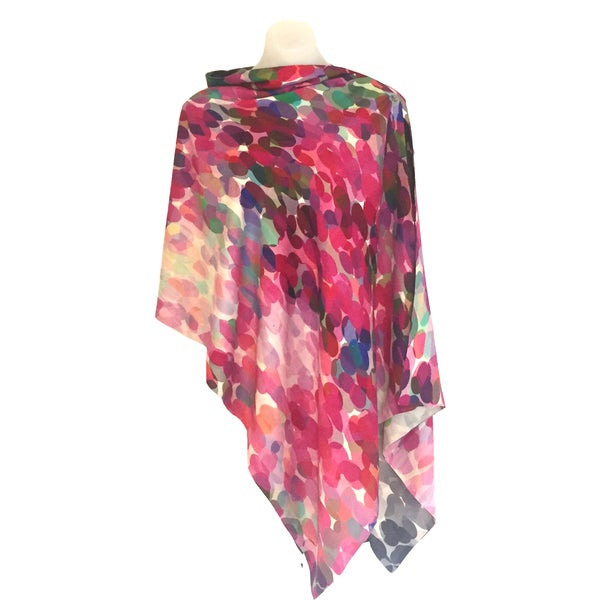 Image of Merino-Silk Pink Pissarro Button Shawl