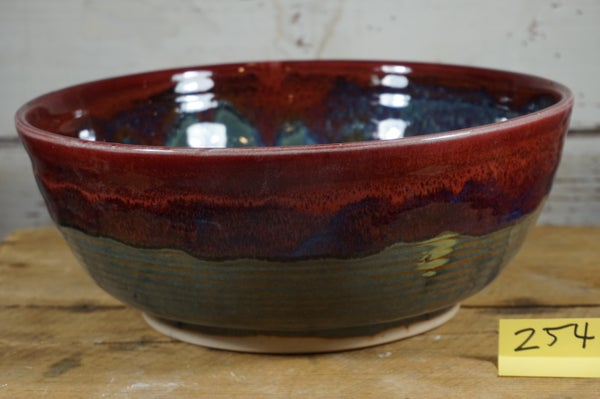 Image of Gallon Blue & Red Serving Bowl