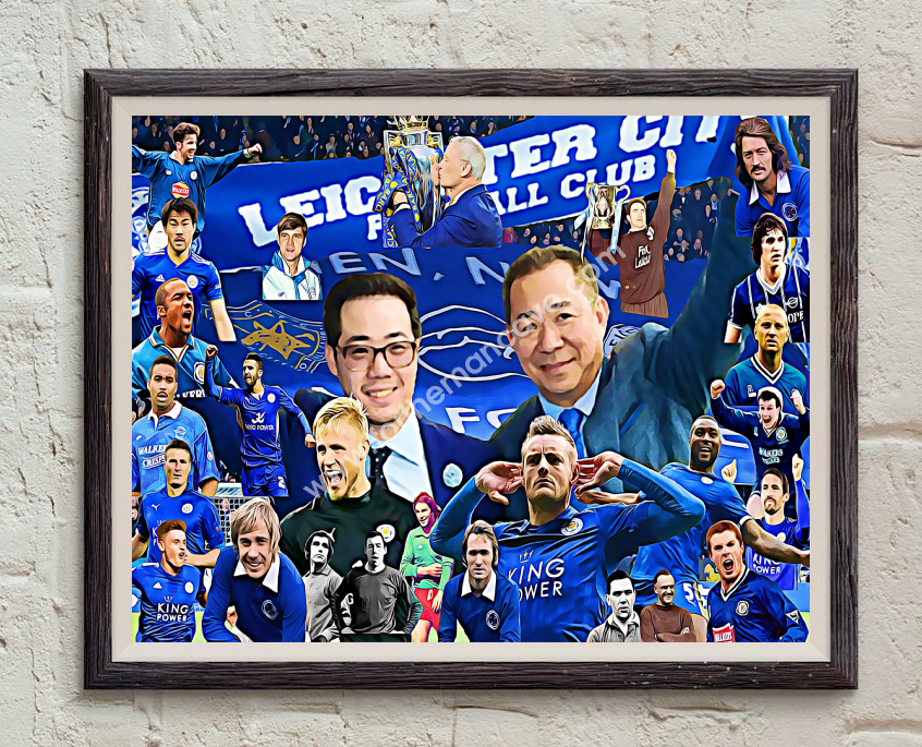 Image of LEICESTER CITY LEGENDS DIGITAL OIL PAINTING PRINT