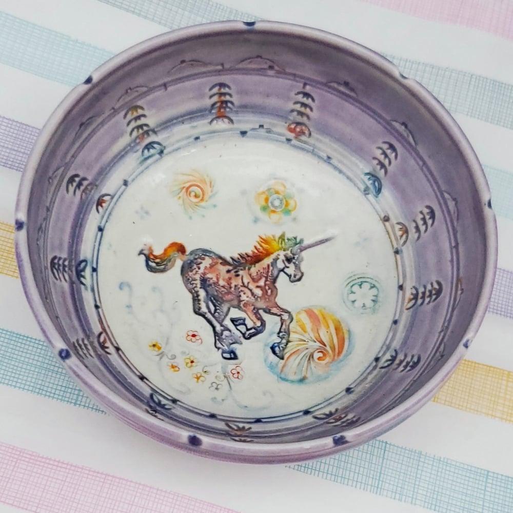 Image of Rainbow Unicorn Porcelain Keepsake Dish
