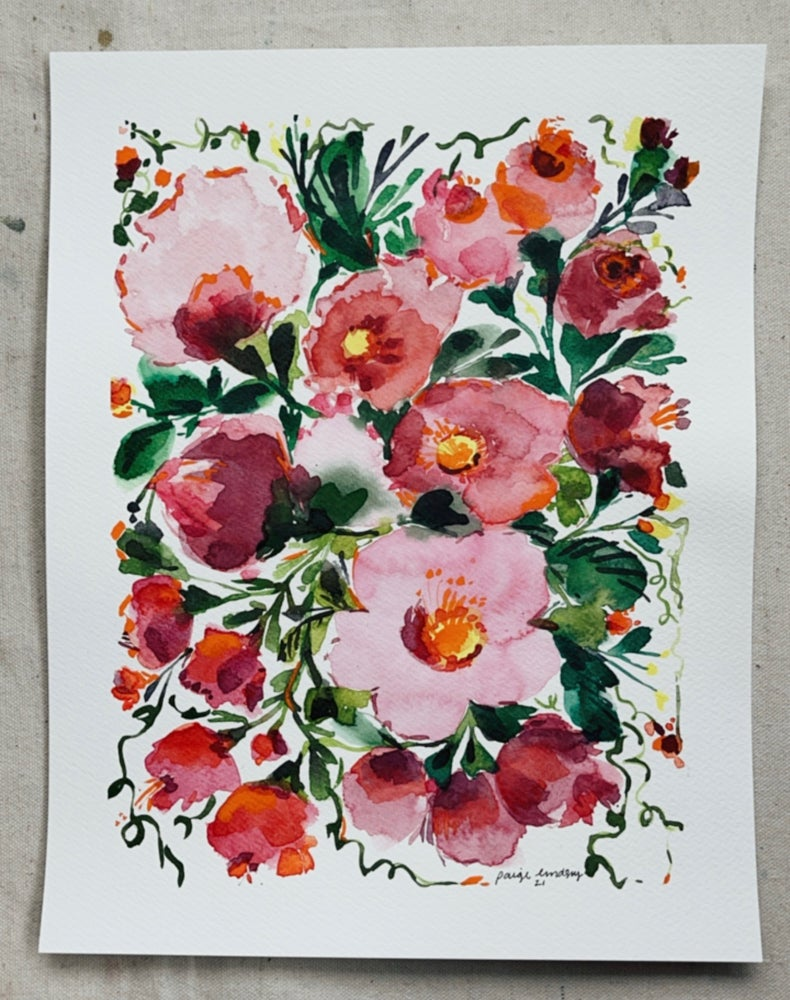 Image of Summer Bouquet - Original Watercolor Painting